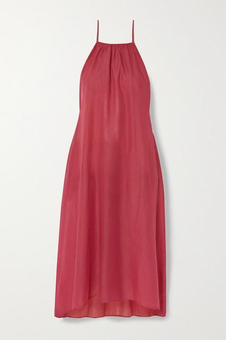 Brick Bridget cotton-voile midi dress | Skin B1do5E