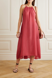 Skin Bridget cotton-voile midi dress
