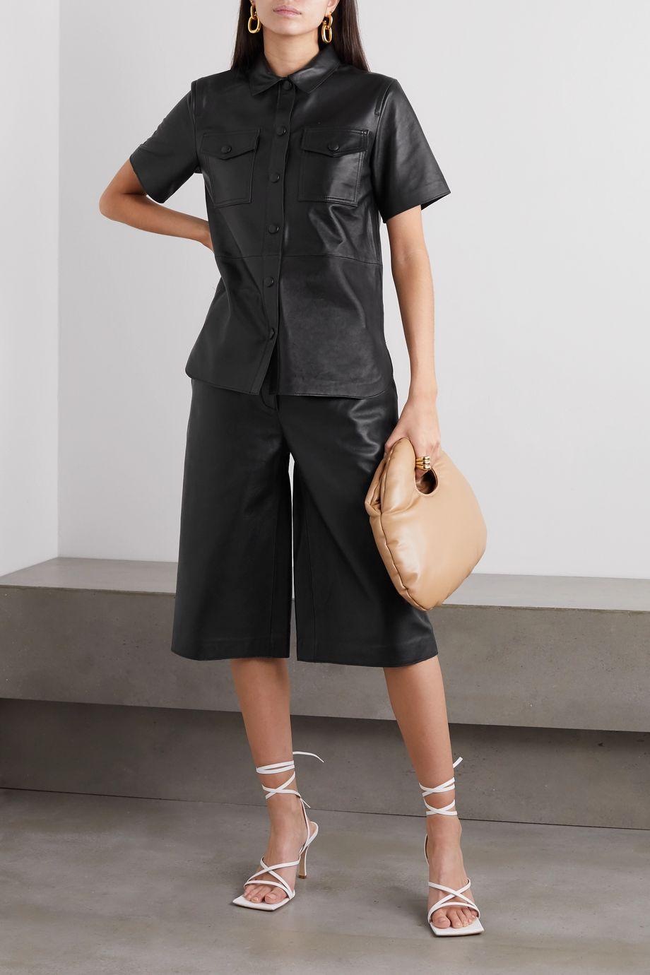 Stand Studio Megan leather shorts