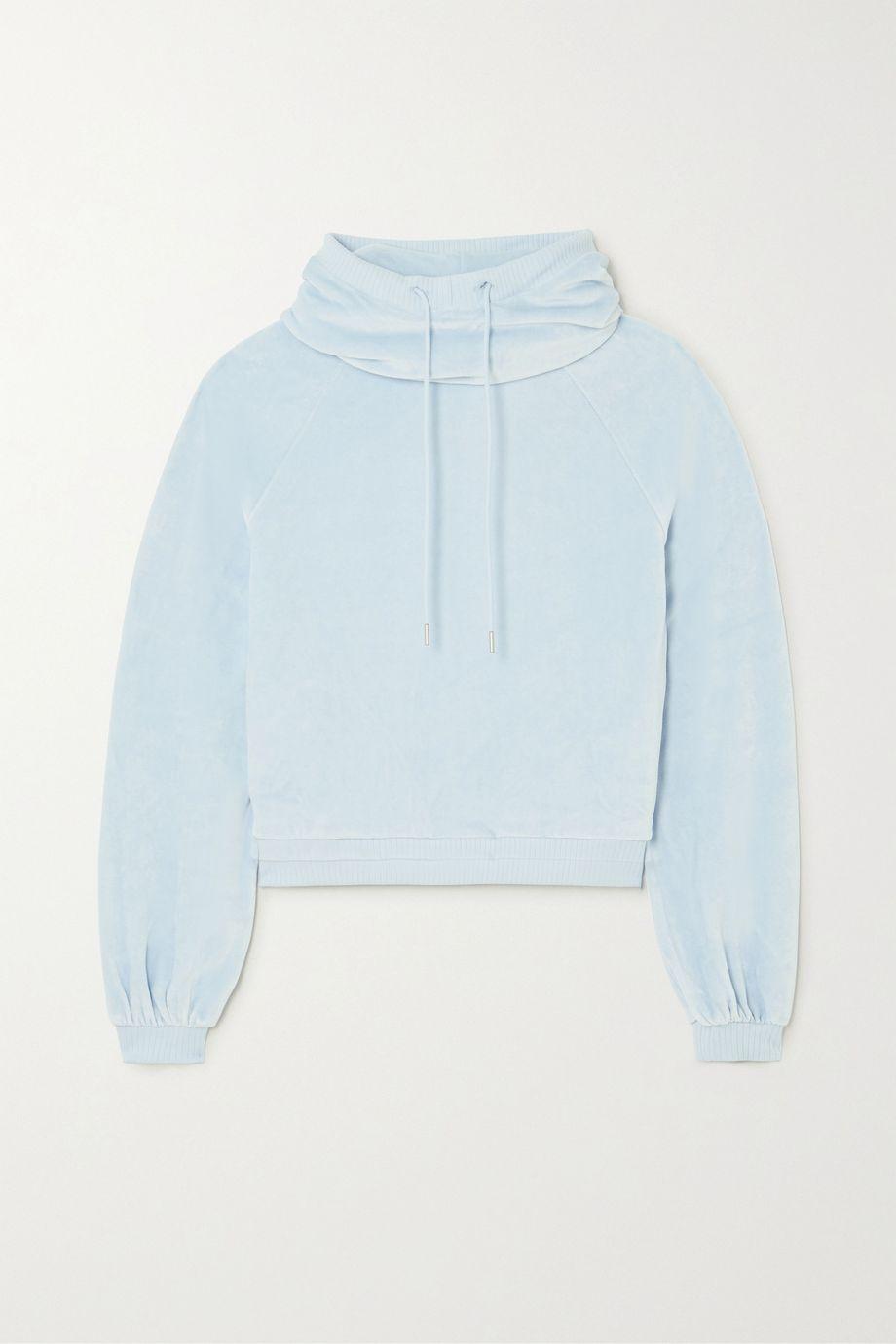 calé Celeste stretch-velour hoodie