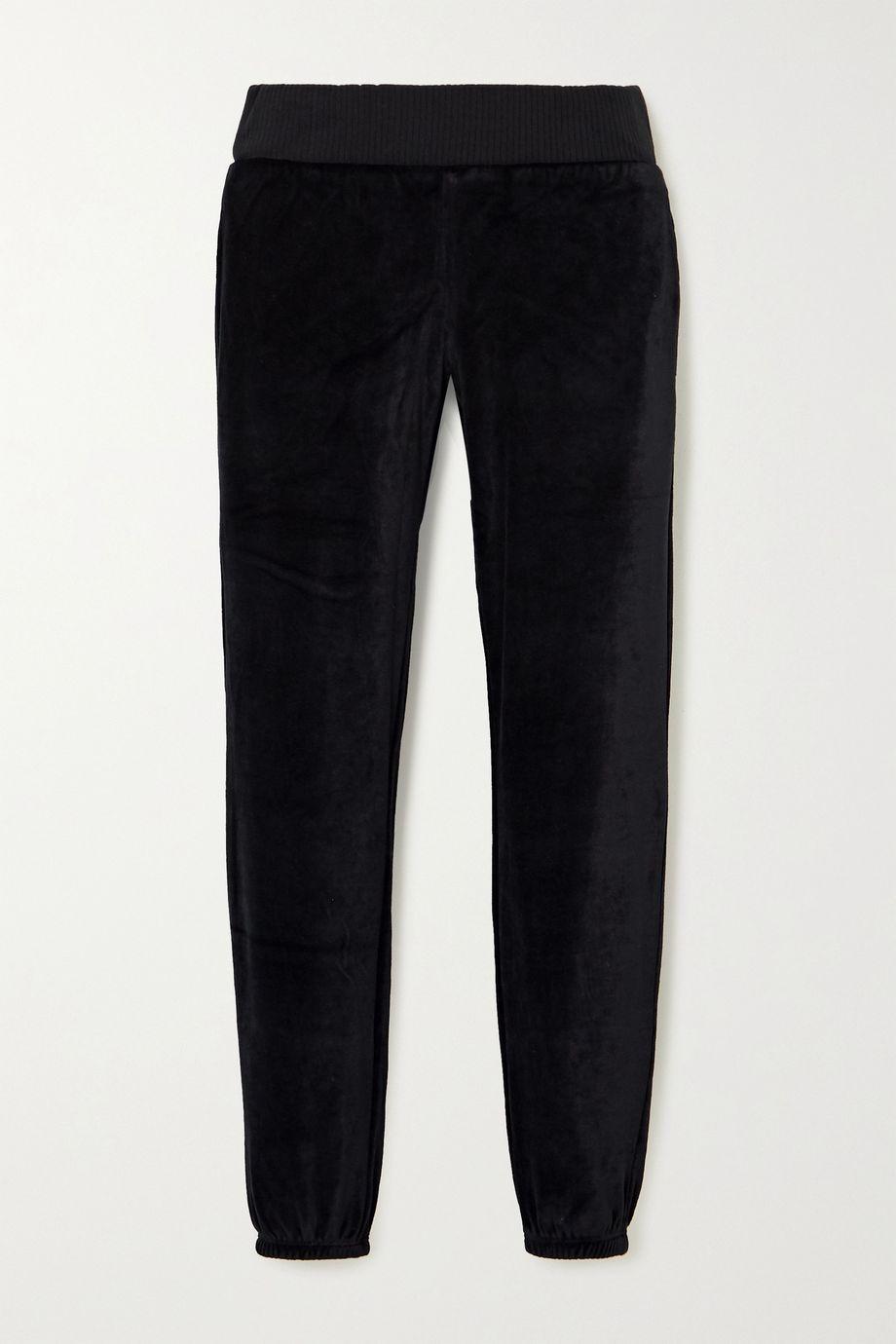 calé Celeste stretch-velour track pants
