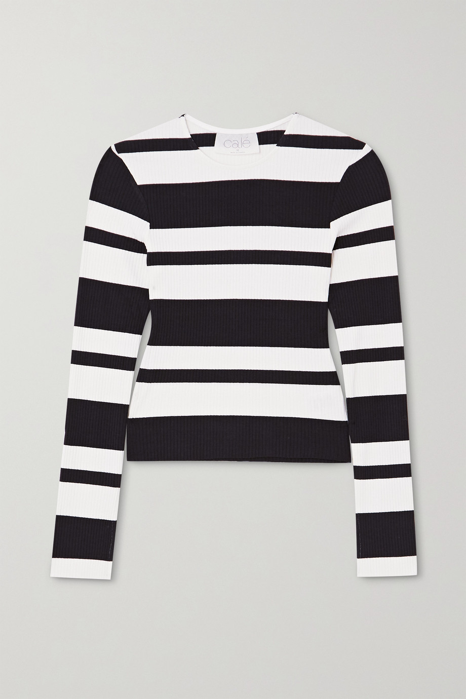 calé Veronique striped ribbed-knit top