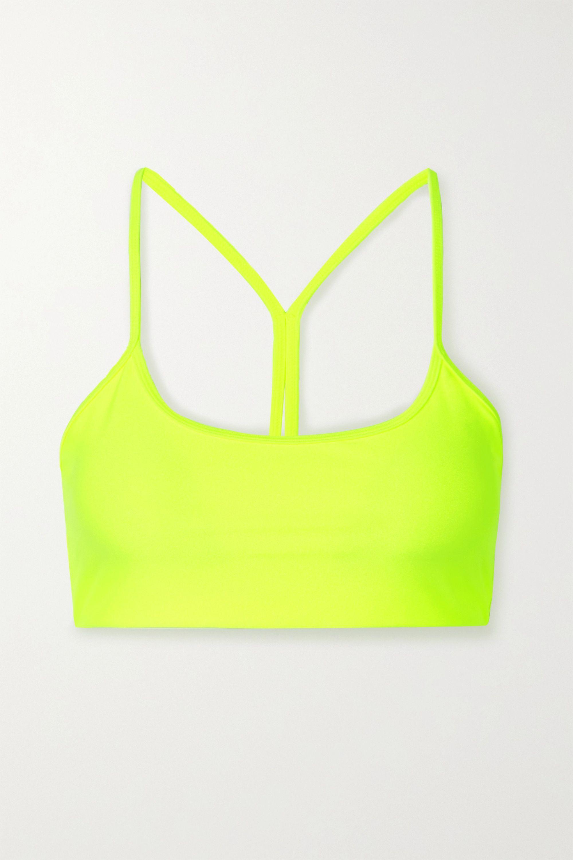 All Access Chorus neon stretch sports bra