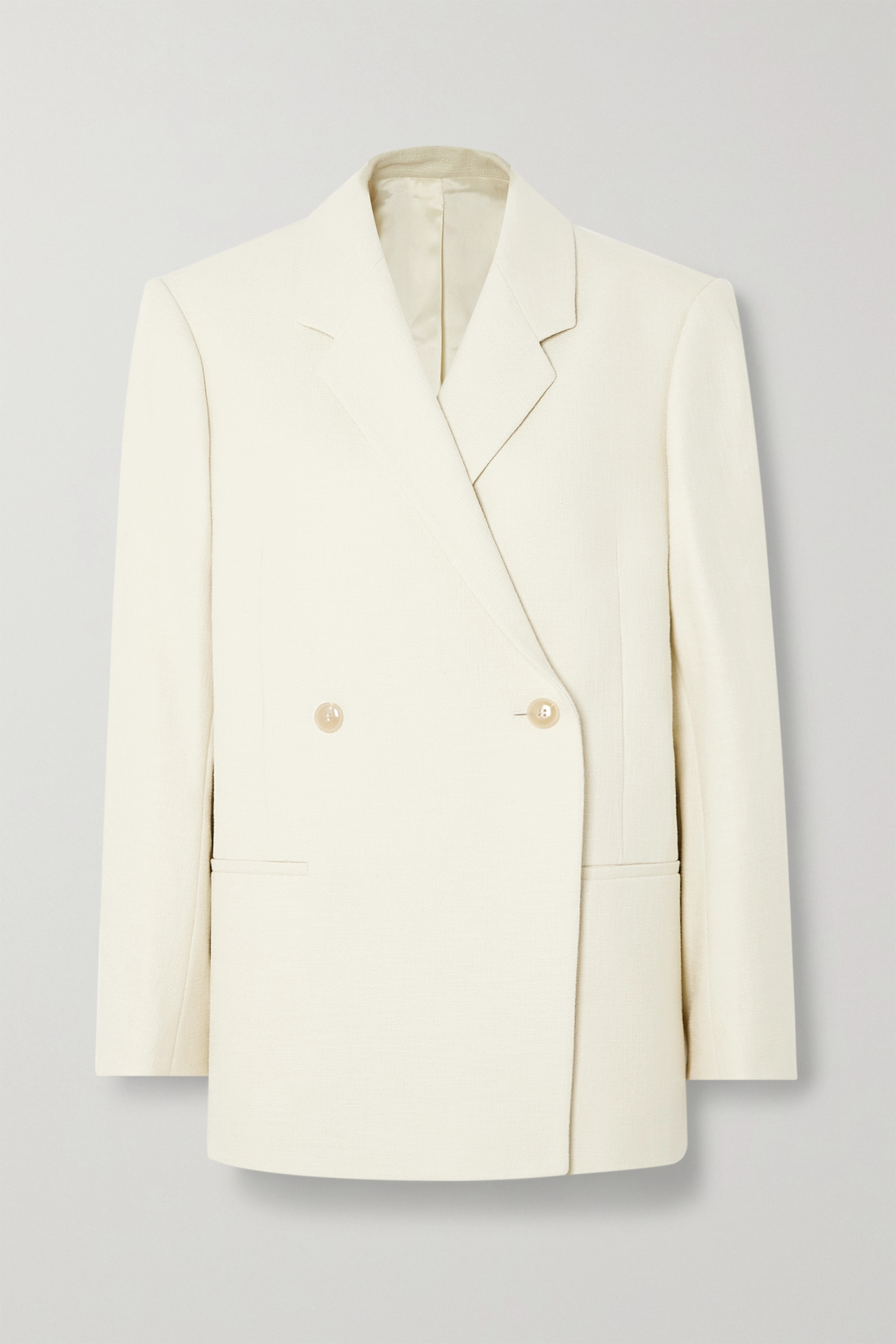 Totême Loreo oversized double-breasted cotton-blend blazer