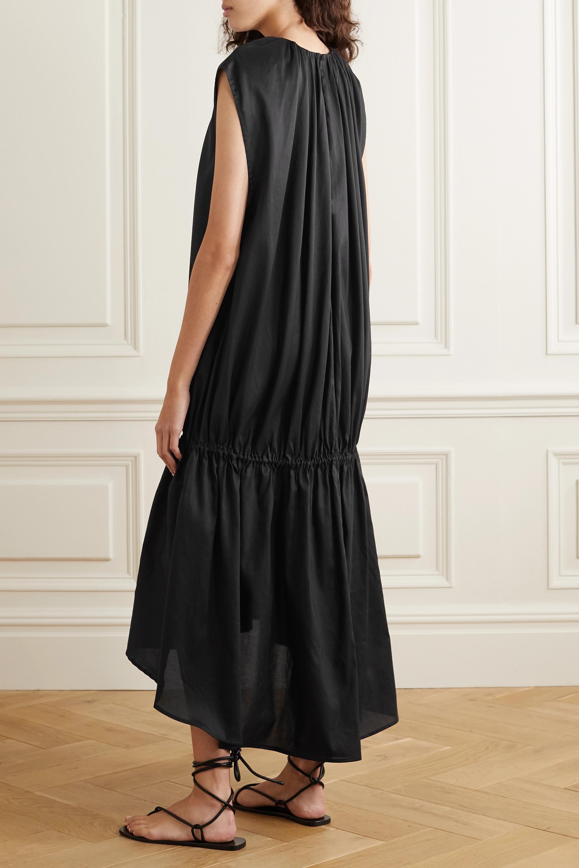Totême Pretoria gathered Lyocell and cotton-blend voile maxi dress