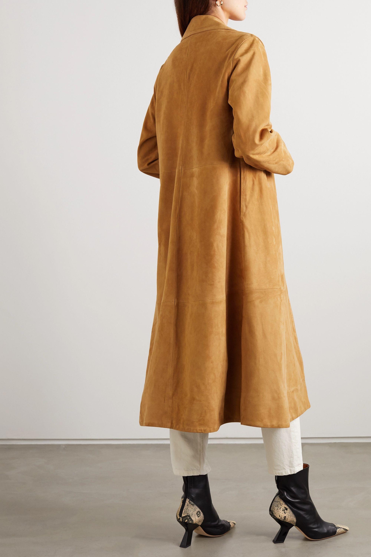 Totême Zadar suede coat