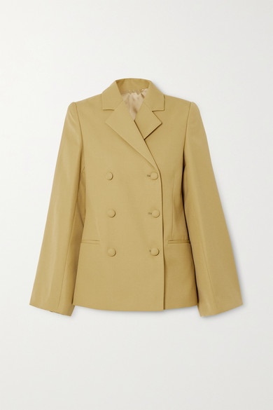 Totême Wools MATERA DOUBLE-BREASTED WOVEN BLAZER