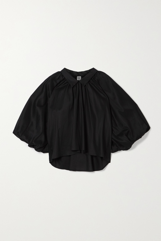 Totême Kerala oversized gathered Lyocell and cotton-blend blouse