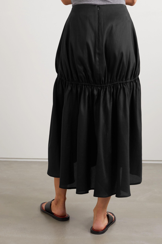 Totême Anzio gathered Lyocell and cotton-blend midi skirt