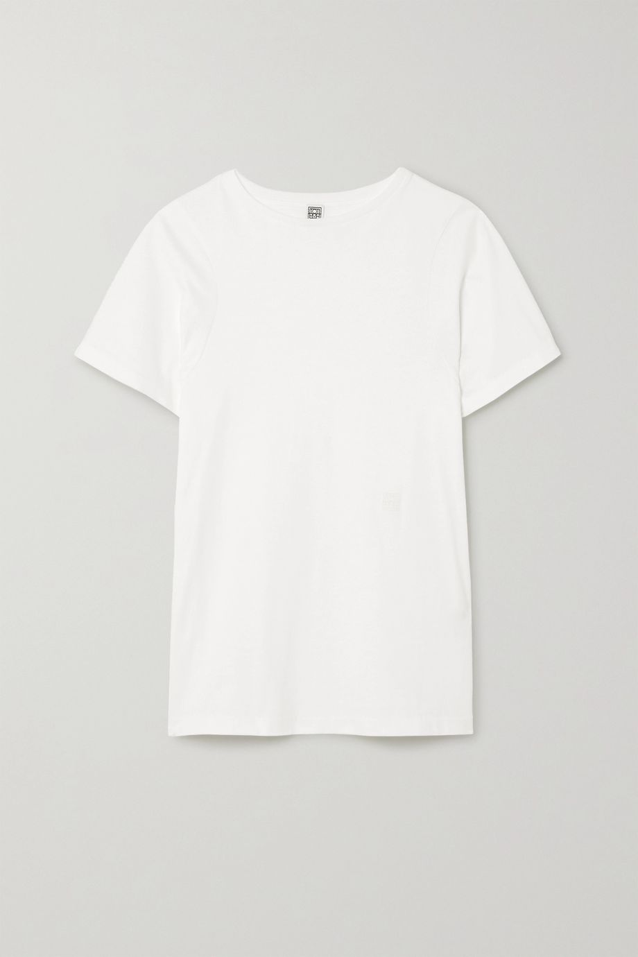 Totême Espera embroidered organic cotton-jersey T-shirt