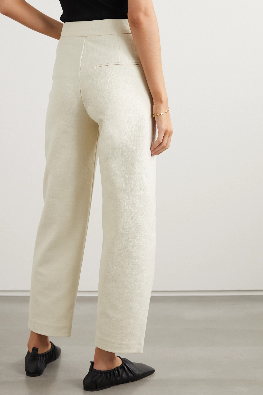 Totême Pantalon droit raccourci en coton mélangé Novara
