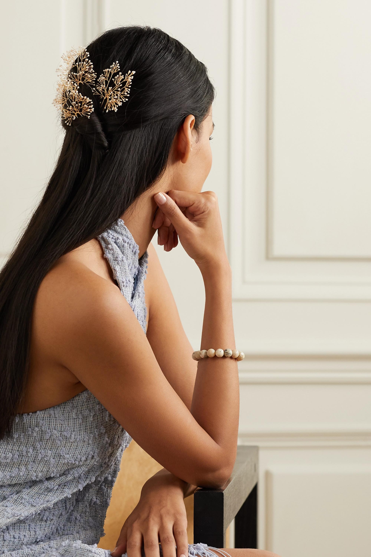 14 / Quatorze Set aus drei goldfarbenen Haarnadeln mit Perlen