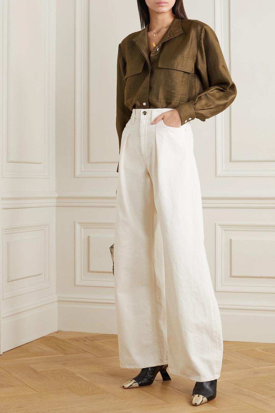 FRAME Safari linen-blend shirt