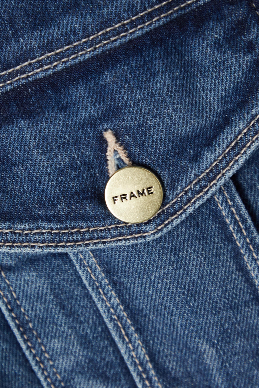 FRAME Le Bardot denim jumpsuit
