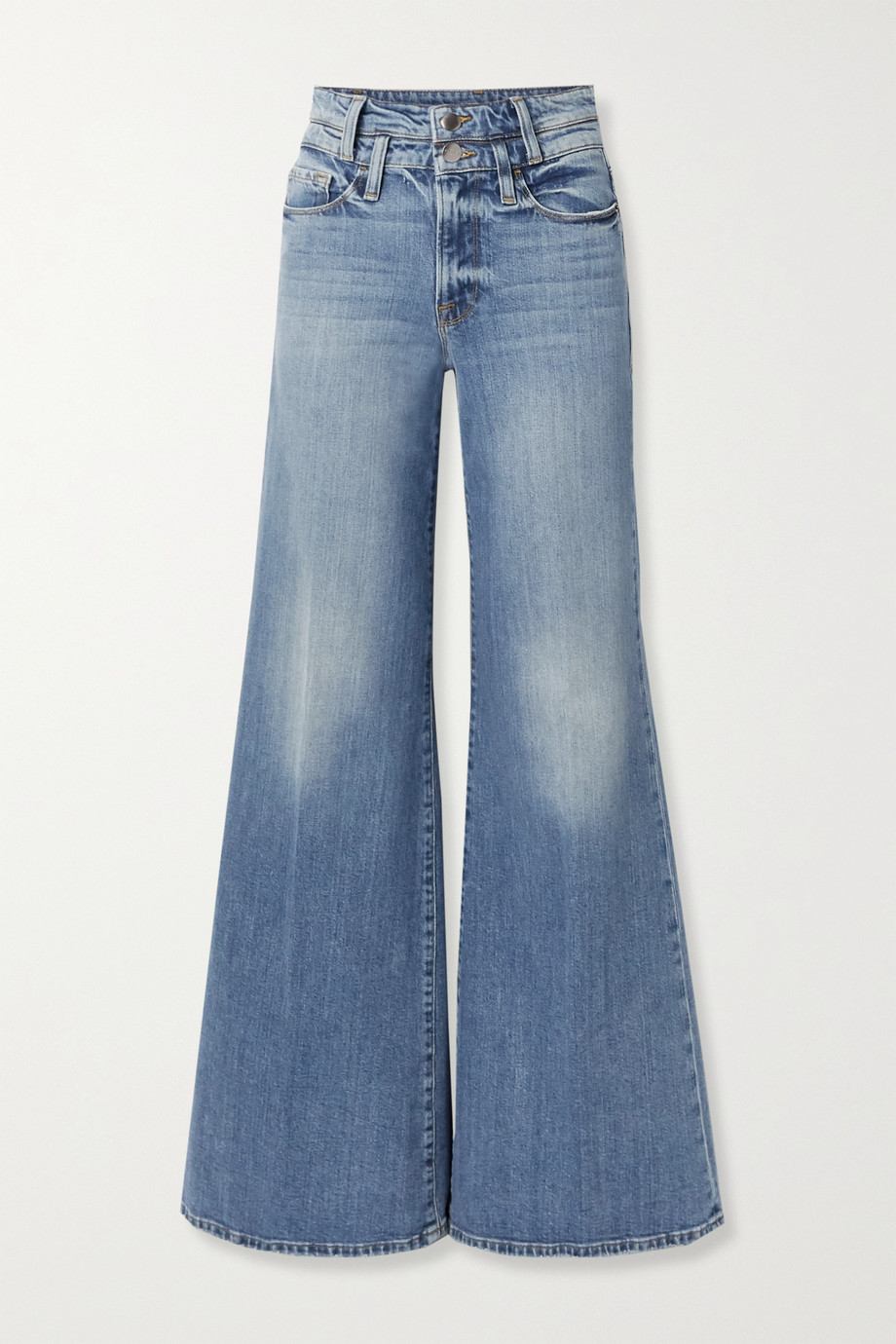 FRAME Le Palazzo high-rise wide-leg jeans