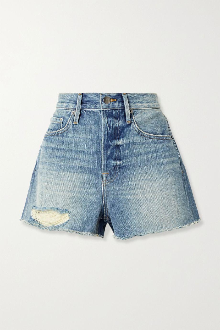 FRAME Le Heritage Vintage distressed denim shorts
