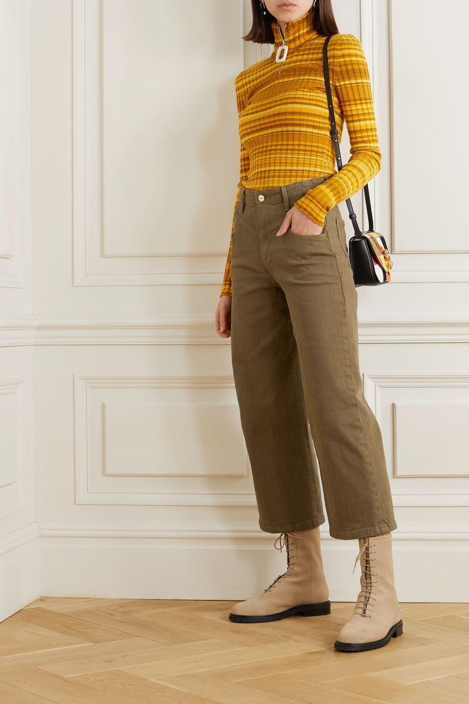 FRAME Ali high-rise wide-leg jeans