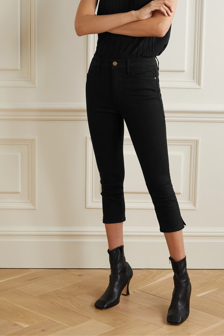 Le High Pedal Pusher cropped skinny jeans
