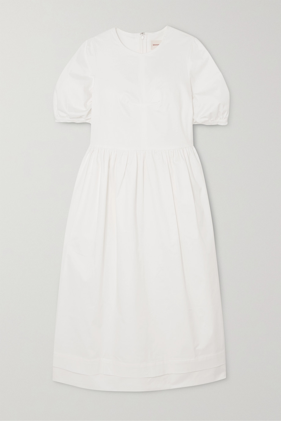 &Daughter Robe midi en serge de coton stretch Dawn