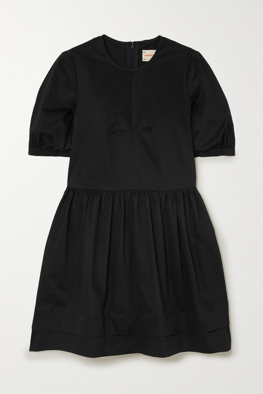 &Daughter Esther stretch-organic cotton twill mini dress