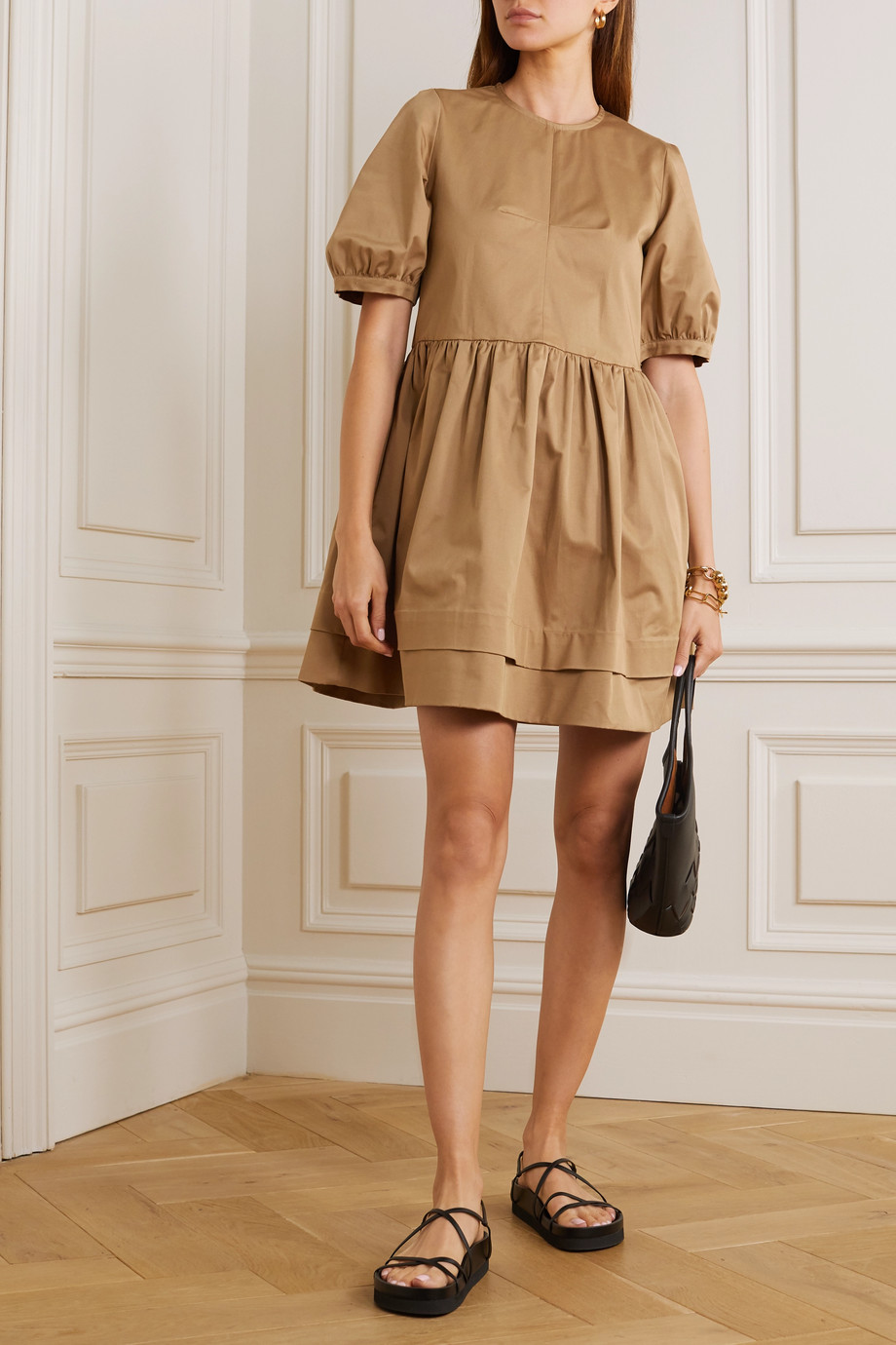 &Daughter Esther stretch organic cotton twill mini dress