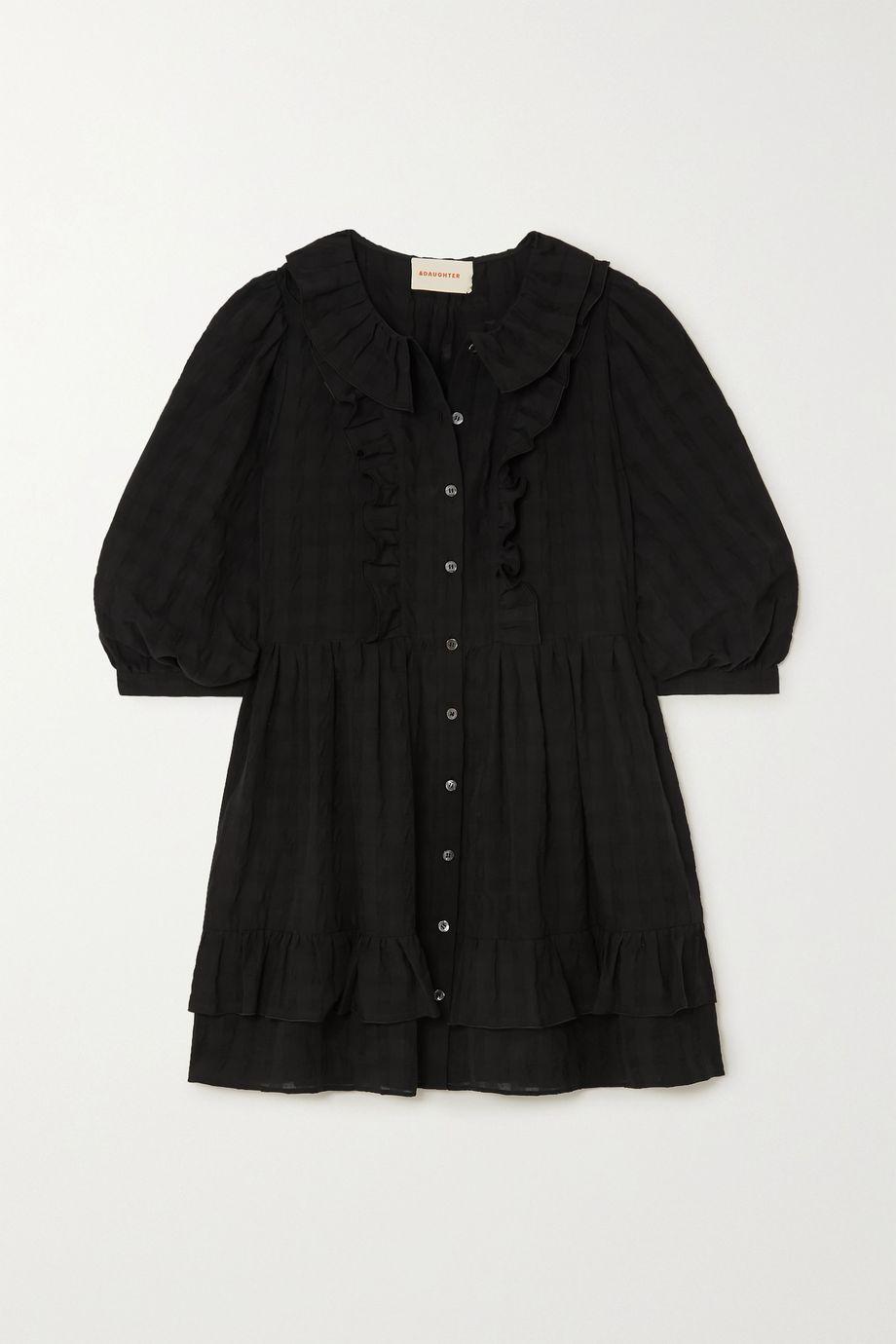 &Daughter Cecile ruffled cotton-seersucker mini shirt dress