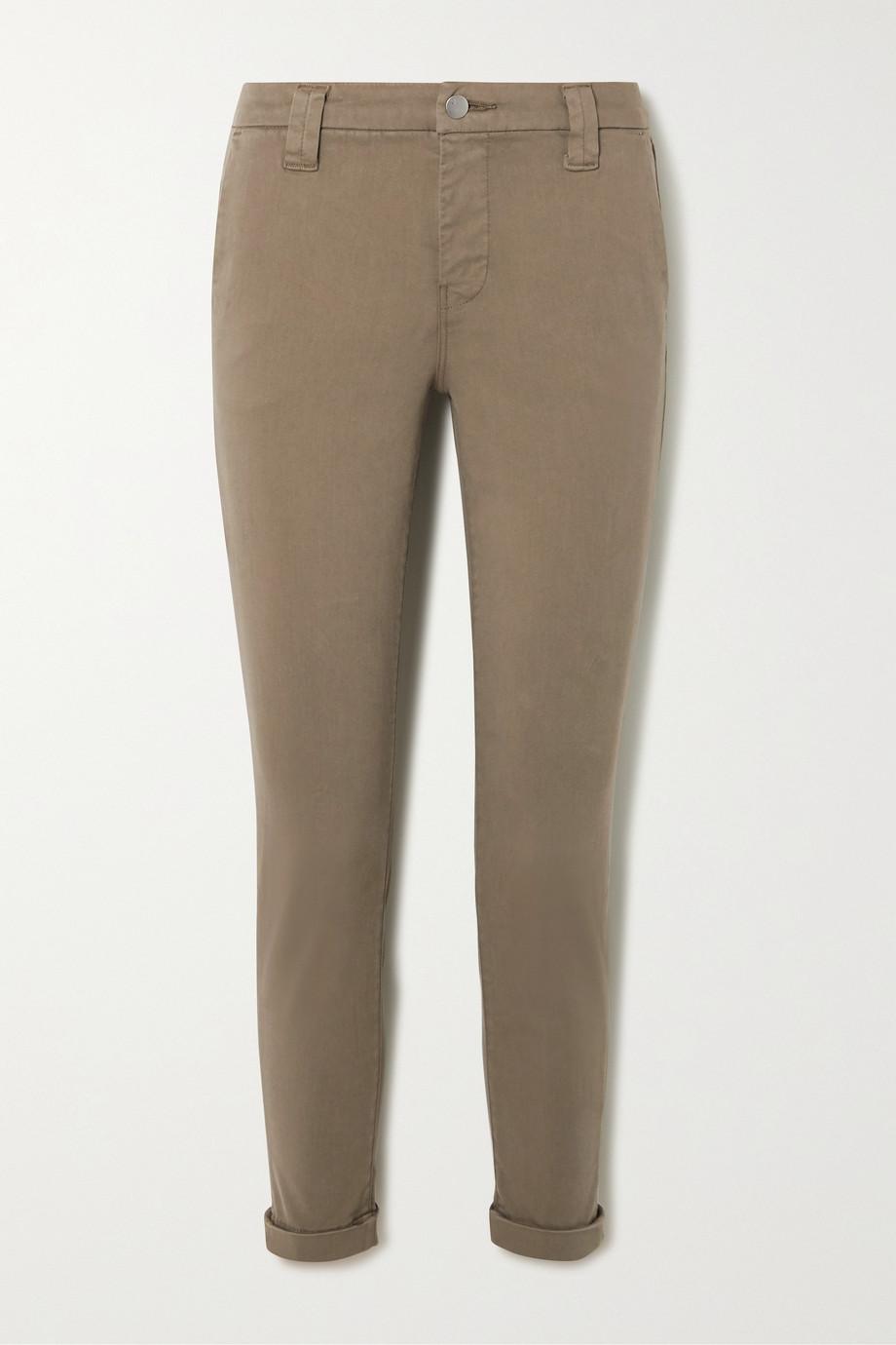 J Brand Paz brushed cotton-blend slim-leg pants