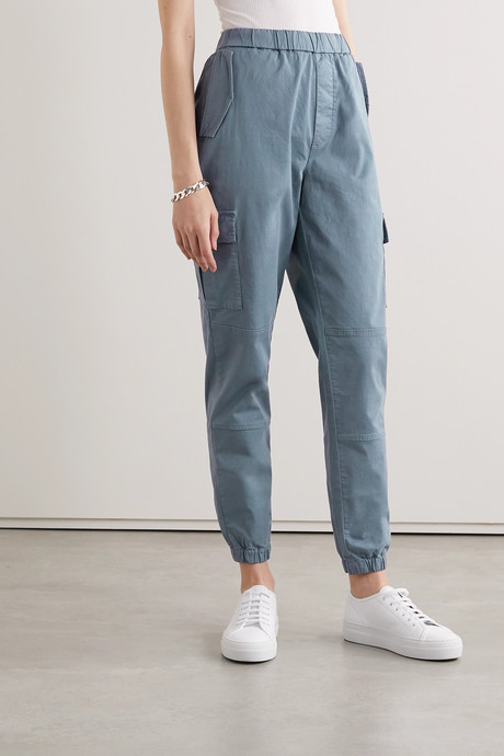 Eugene cropped cotton-blend twill cargo pants