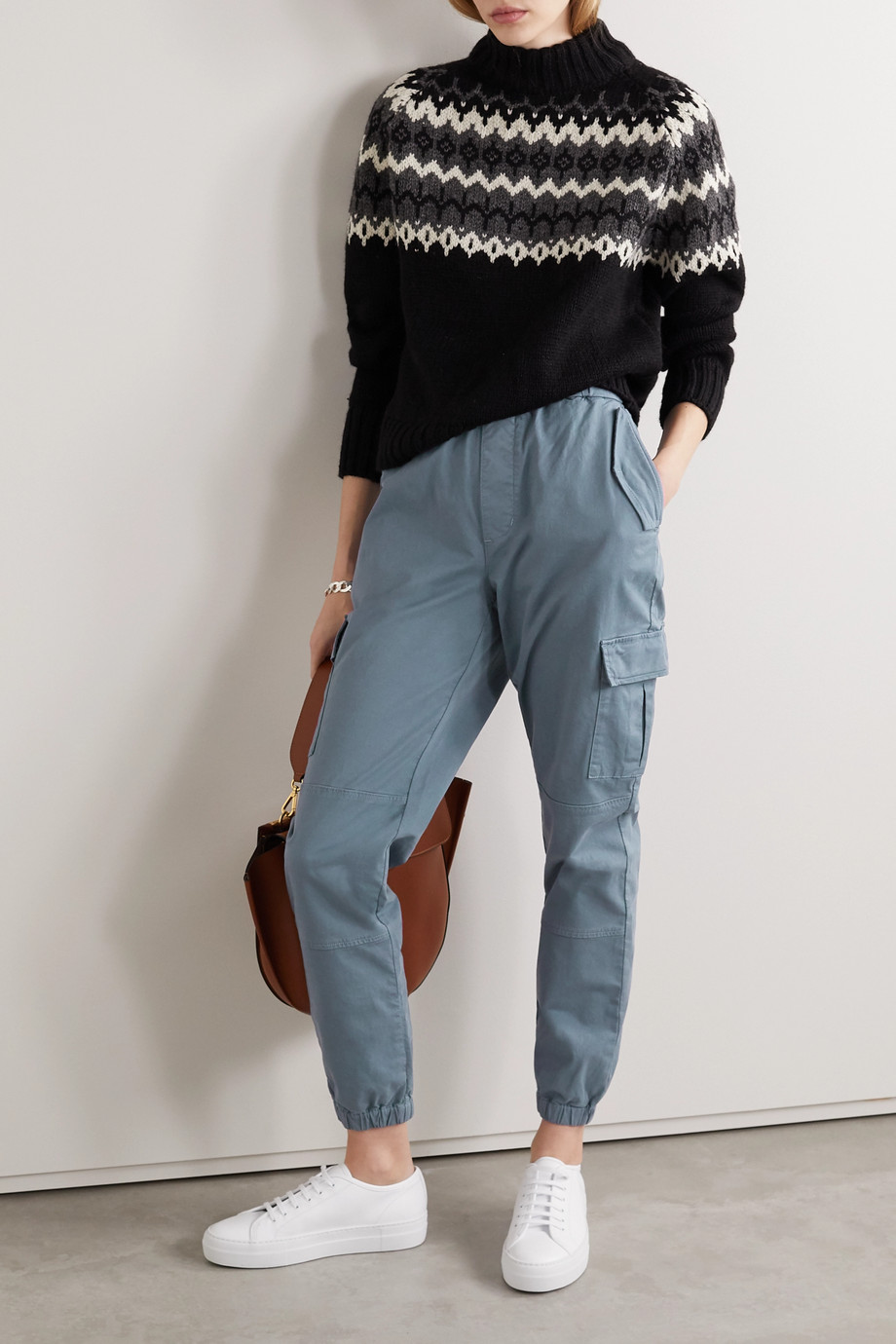 J Brand Eugene cropped cotton-blend twill cargo pants