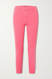 J Brand Ruby cropped high-rise slim-fit jeans