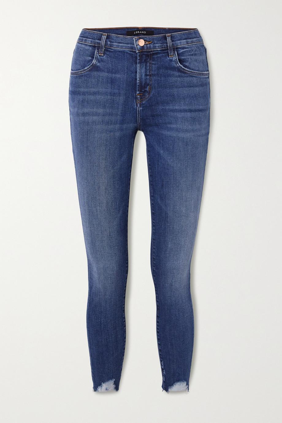 J Brand Alana distressed high-rise skinny jeans