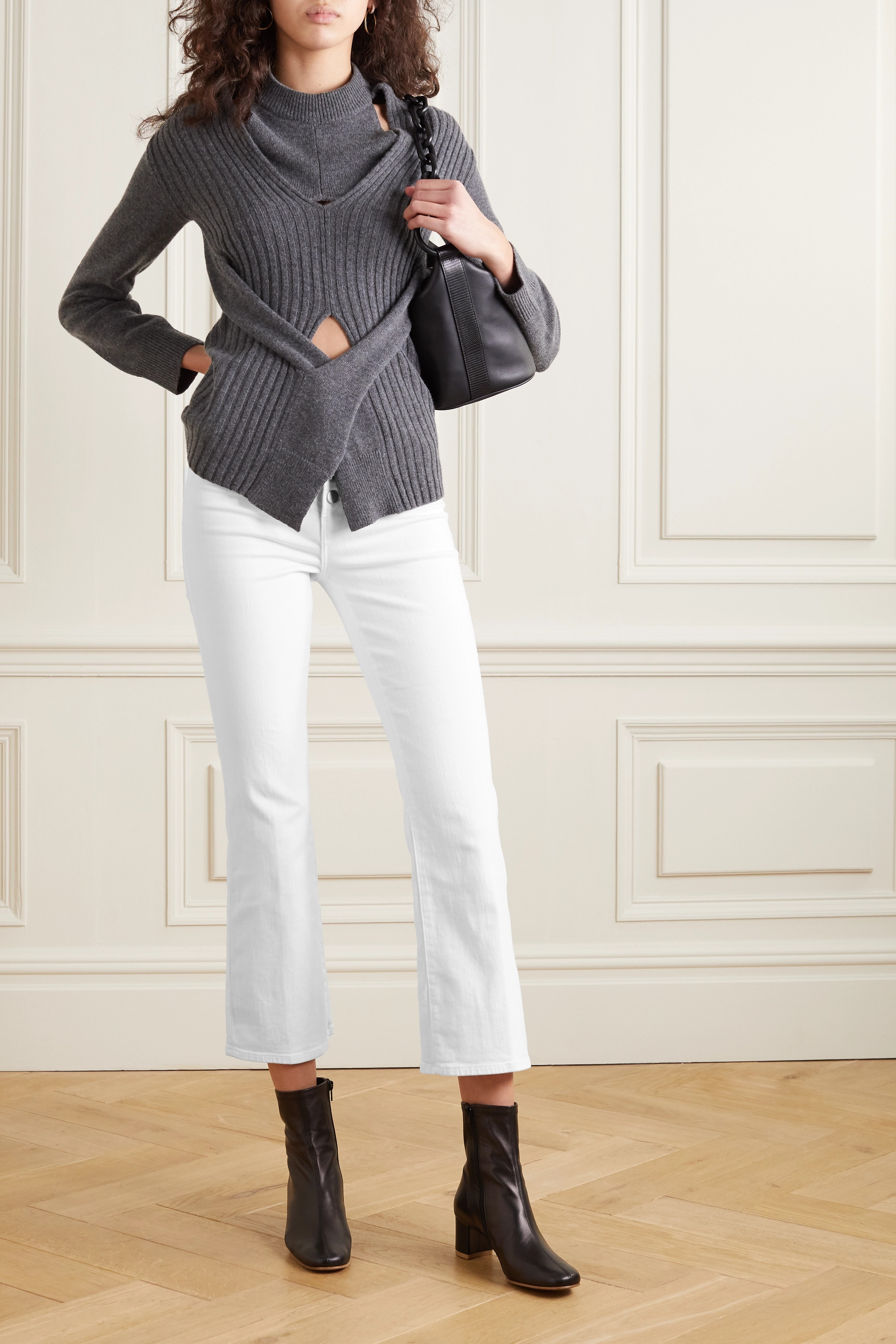 J Brand Lillie high-rise cropped bootcut jeans