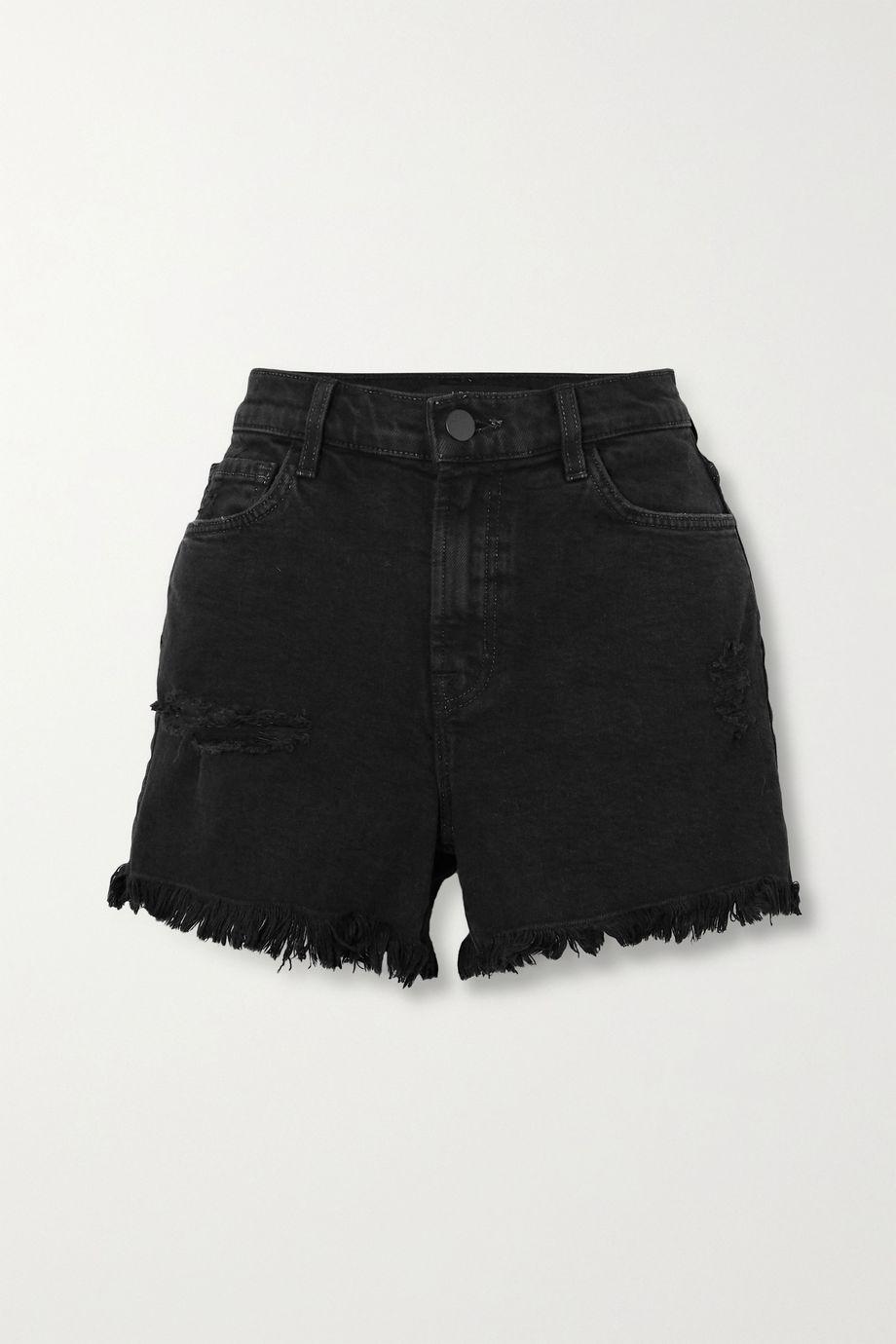 J Brand Jules frayed denim shorts
