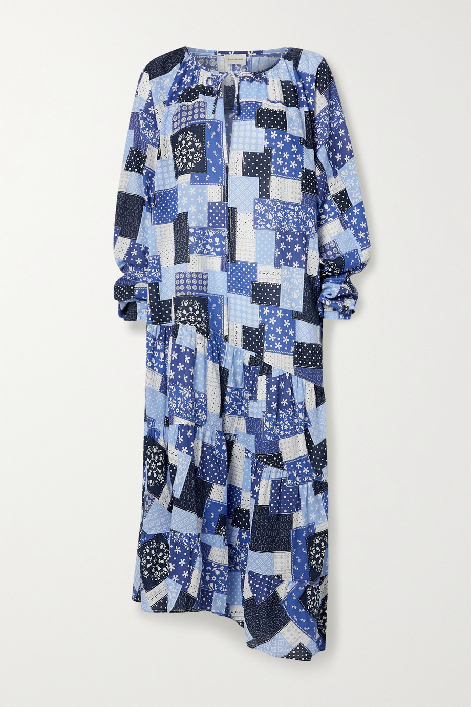 By Malene Birger Amily asymmetric tiered printed cotton-voile maxi dress