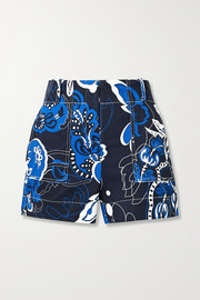 Gaugler floral-print cotton-blend twill shorts