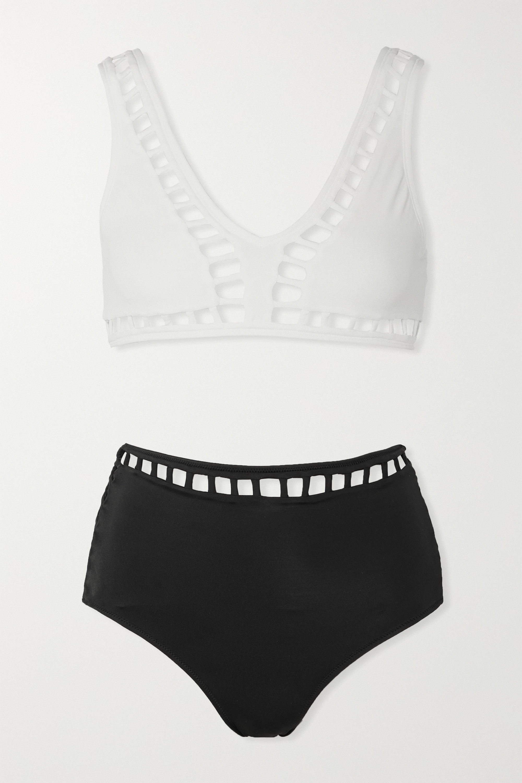 OYE Swimwear Ela cutout two-tone bikini