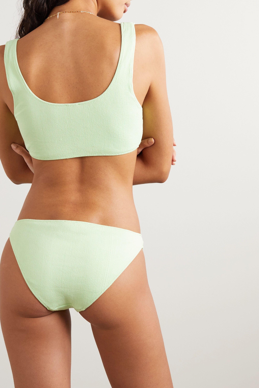 GANNI + NET SUSTAIN lace-up ribbed bikini top