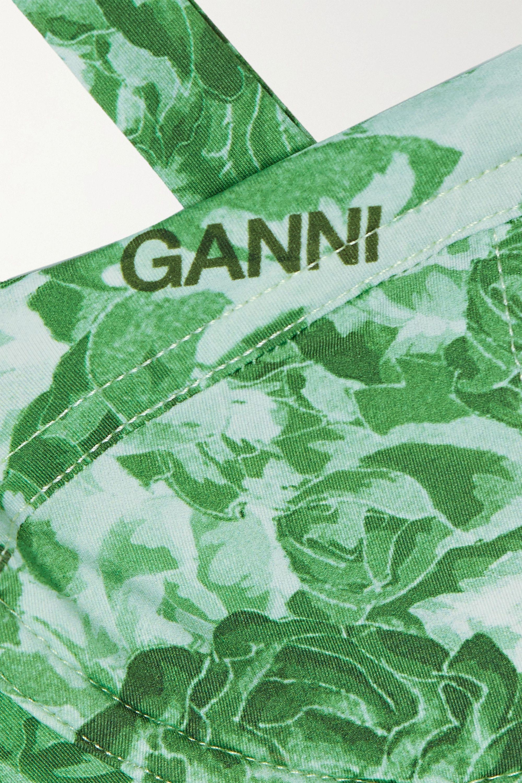 GANNI + NET SUSTAIN Bikini-Oberteil mit Bügeln und Print