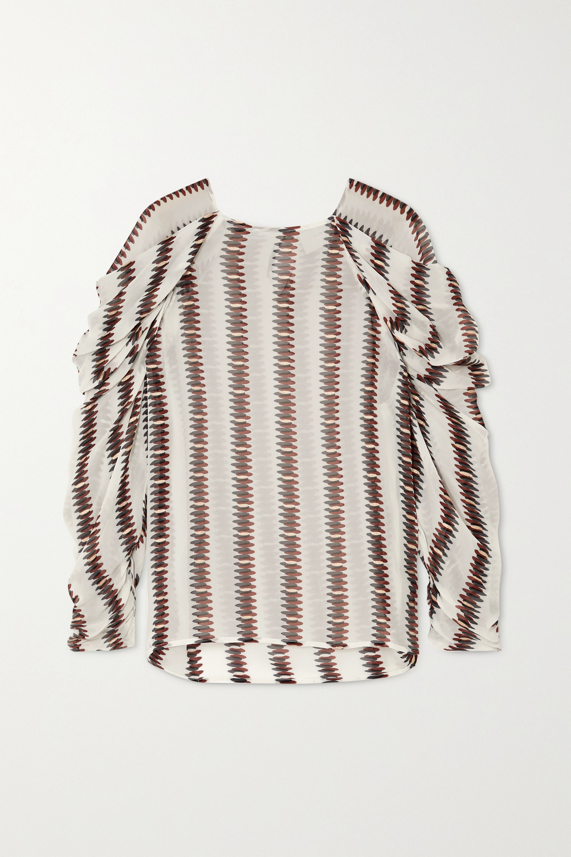 MUNTHE Explore striped voile top