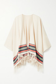 rag & bone Fringed striped cashmere and wool-blend wrap