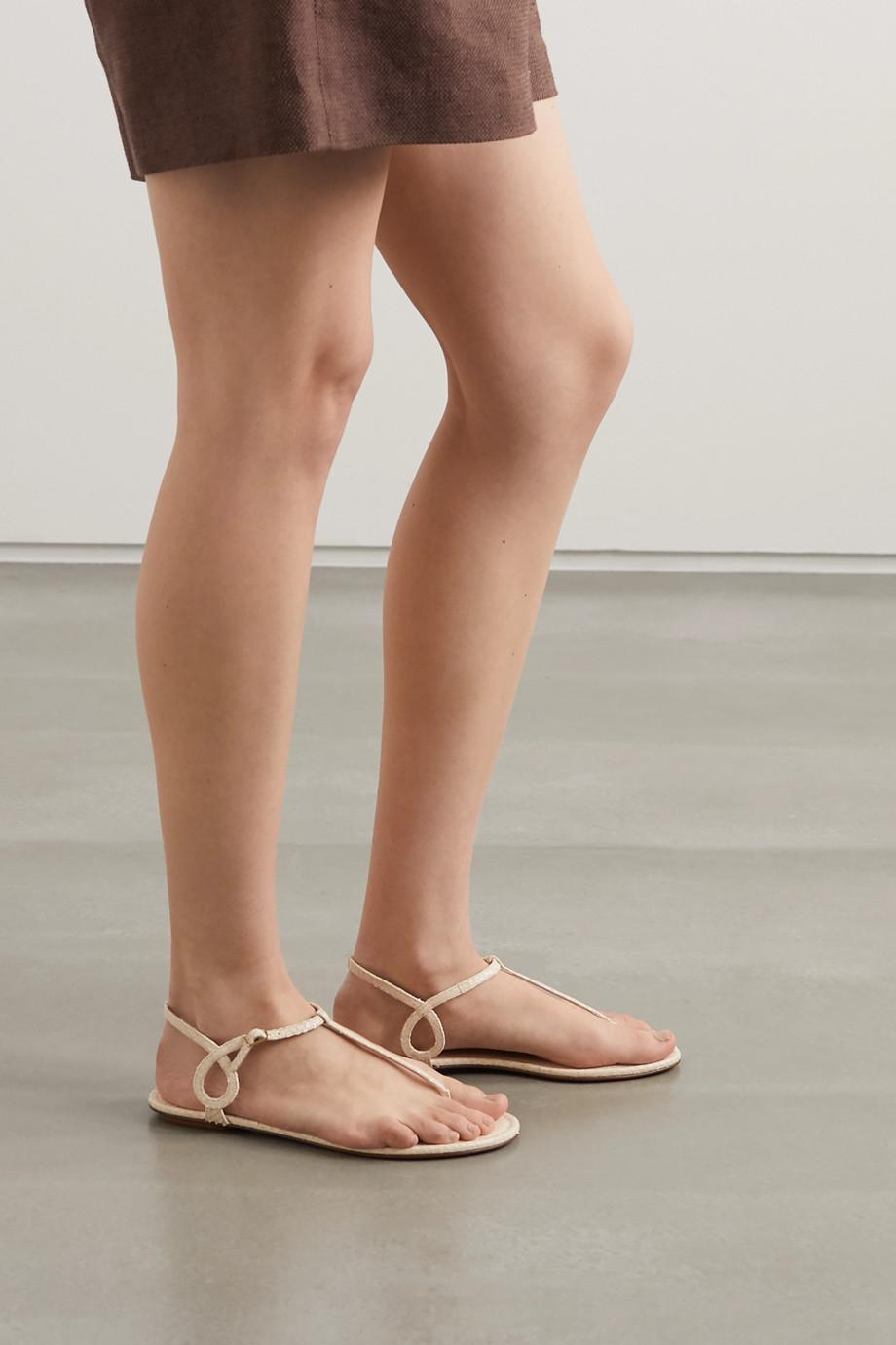Aquazzura Almost Bare snake-effect leather sandals