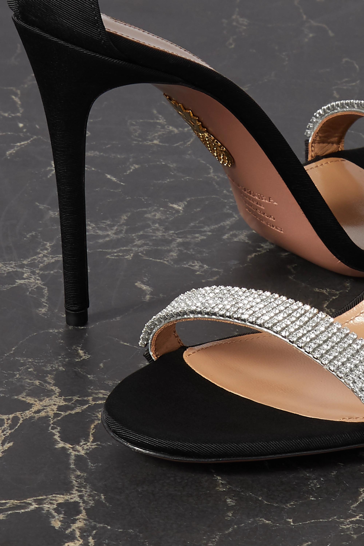 Aquazzura Chain Reaction 105 crystal-embellished grosgrain sandals