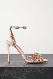 Tequila 105 crystal-embellished leather sandals
