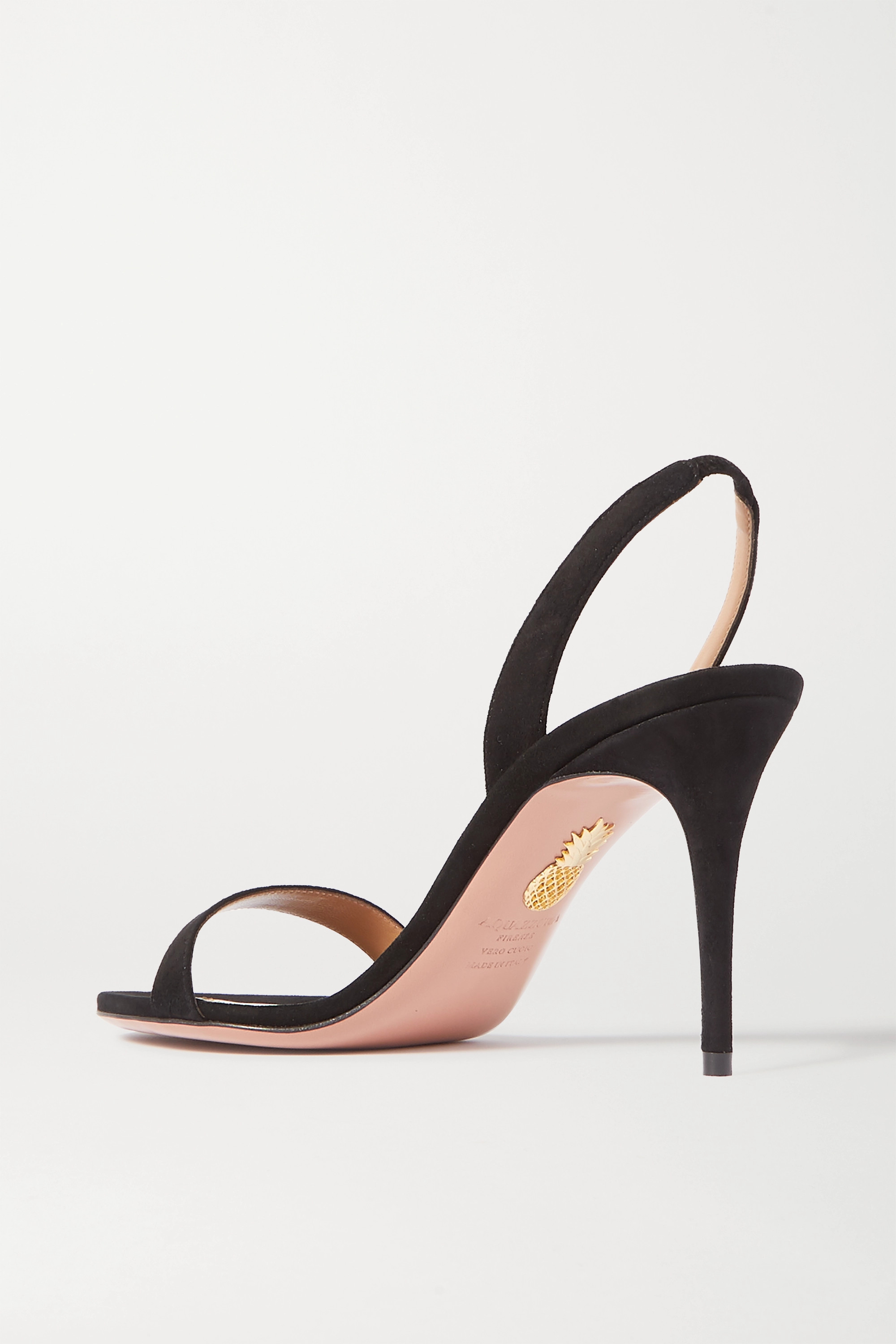 Aquazzura So Nude 85 suede slingback sandals