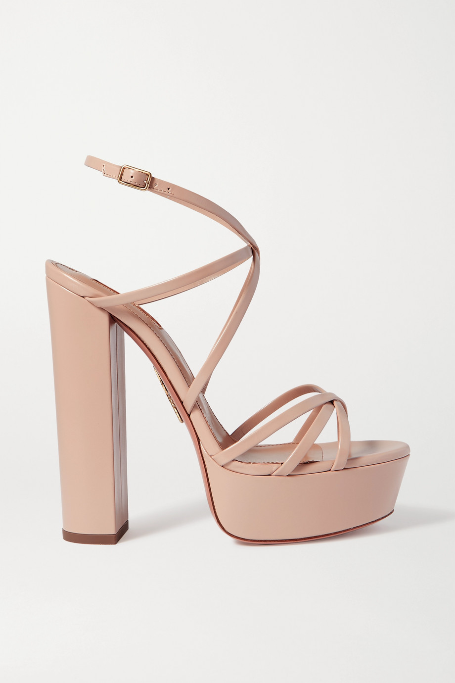 Aquazzura Gin 140 leather platform sandals