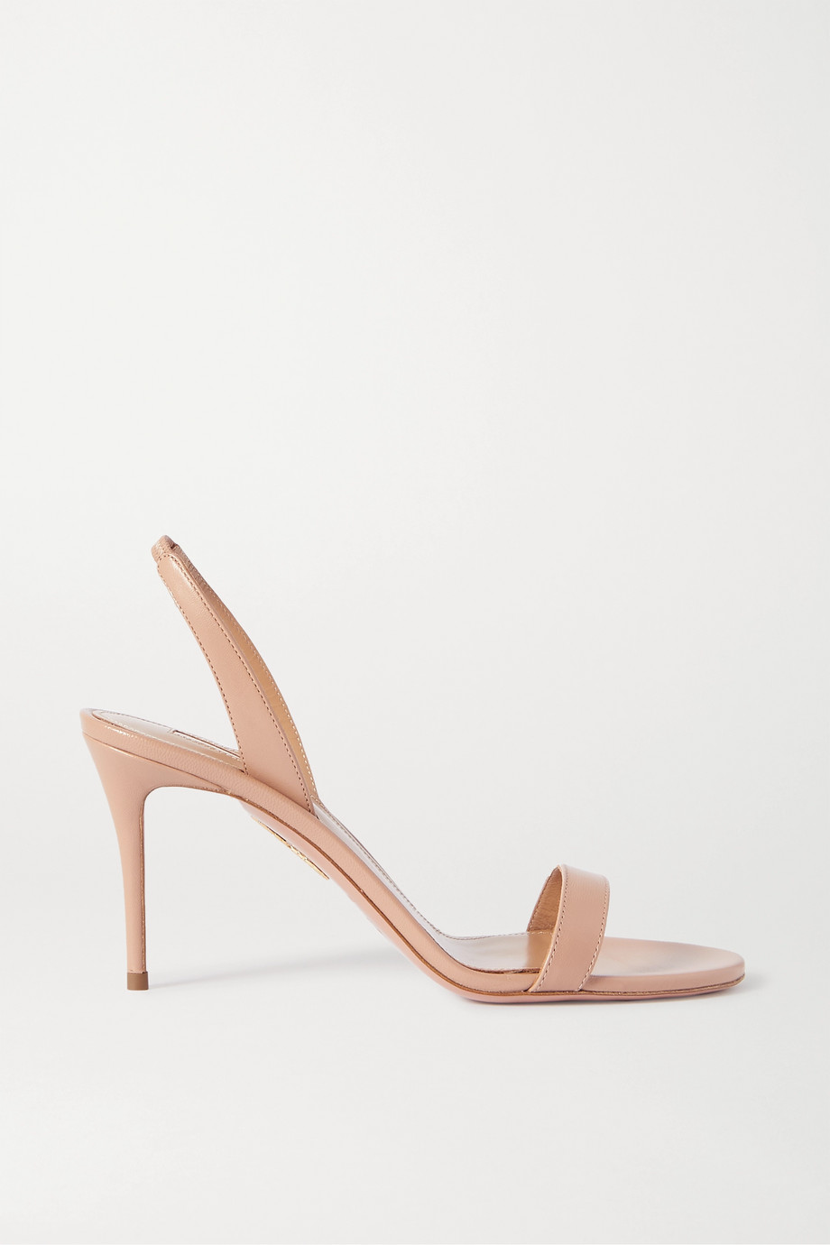 Aquazzura So Nude 85 leather slingback sandals