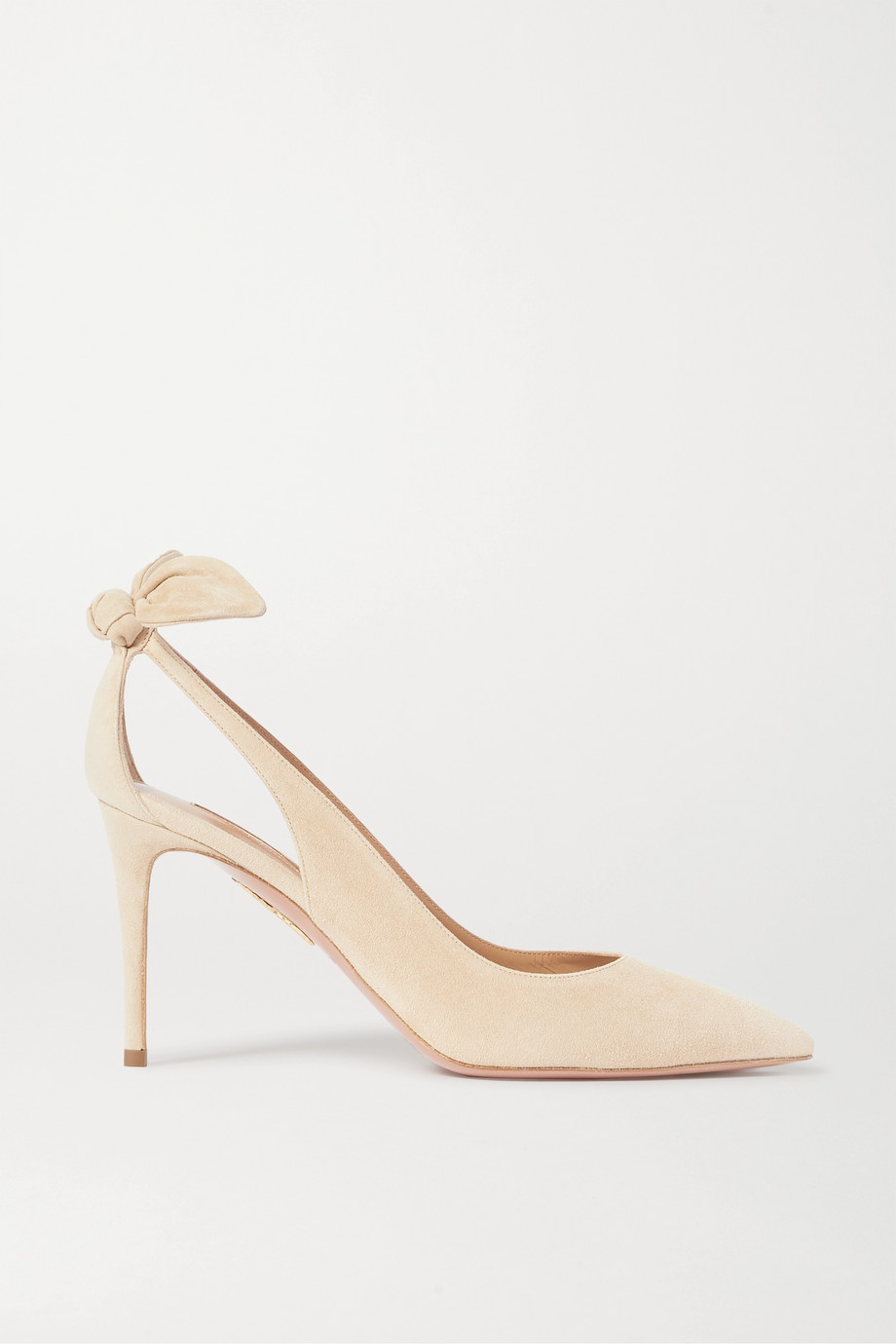 Aquazzura Bow Tie 85 suede pumps