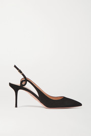 Serpentine 75 suede slingback pumps
