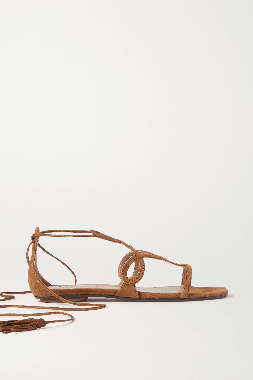 Aquazzura Gitana suede sandals