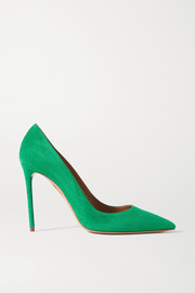Aquazzura Purist 105 suede pumps